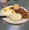 chicken fried steak and eggs