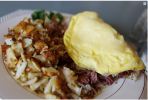 Reuben-Omelet