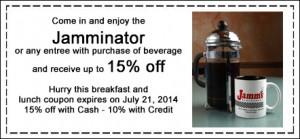 Jamms Restaurant breakfast coupon