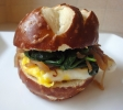 spinach egg sandwich